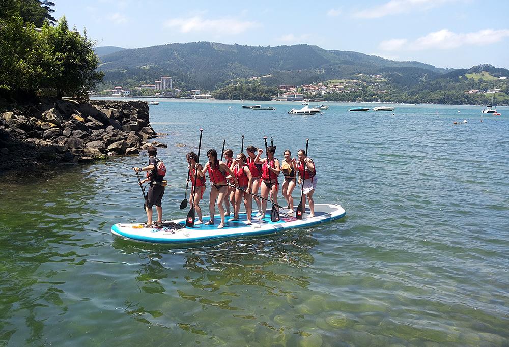 Big Sup stand up paddle en la ría de Urdfaibai, Bizkaia, Costa Vasca