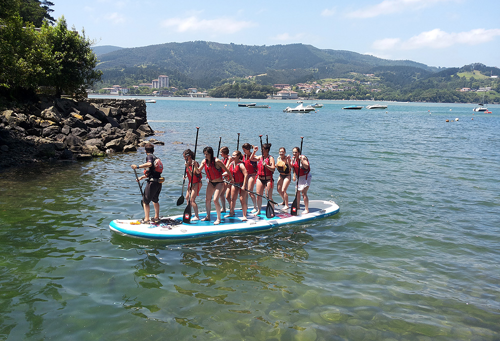 Big Sup stand up paddle en la ría de Urdfaibai, Bizkaia, Costa Vasca
