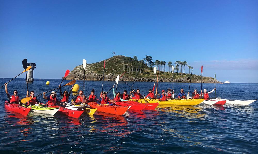 Ruta de jornada completa en kayak de mar en Urdaibai, Bizkaia, Costa Vasca